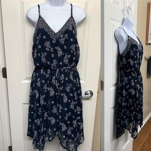 NWOT Scarf Dress Navy Small S